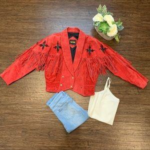Learsi boho cowgirl 80's jacket size S